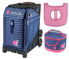 Zuca Sport Bag - Anchor My Heart w/Gift Lunchbox and Seat Cover (Black Frame)