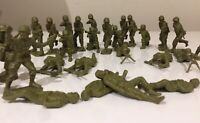Bulk Lot Toy Soldiers Army Green Colour 29X Individual Soldiers