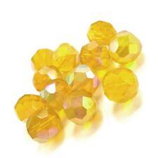 Strang 70+ Gelb Tschechische Kristall 6mm Ab Facet Rund Perlen HA20805