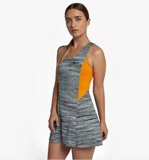 Nike Women Maria Court Tennis Dress - AH7851 012 - Sz M - WolfGrey/Orange