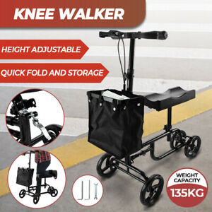 Knee Walker Scooter Mobility Alternative Crutches Wheelchair with Basket