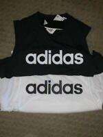 NWT adidas Women's Sleeveless T-shirt Tank Dash White Large Med Black XL New