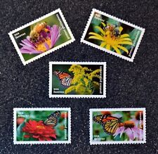 2017USA #5228-5232 Forever - Protect Pollinators - Set of 5 Singles  butterfly