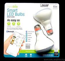 (2) FEIT HOMEBRITE SMART LED BLUETOOTH Dimmable FLOOD Light Bulb 9W 65W BR30
