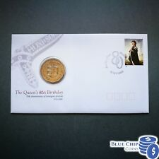 2006 UNC 50c Queens 80th Birthday Overprint Limited Edition PNC CERT: 1715