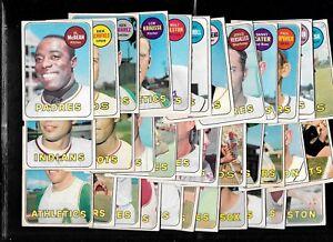 1969 OPC O PEE CHEE TOPPS MLB BASEBALL CARD 1-218 & DECKLE EDGE SEE LIST