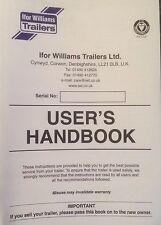 IFOR WILLIAMS TRAILER HANDBOOK INSTRUCTIONS REGISTRATION SERVICE MANUAL