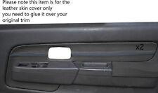 Azul Stich 2x Frontal Puerta Gris Tarjetas Trim Skin Tapa se ajusta Nissan Navara D22