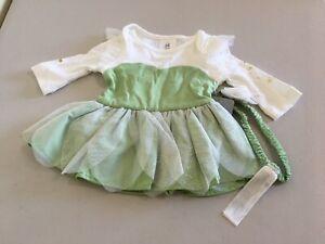 NWT Disney Store Tinker Bell Baby Bodysuit Costume Set Wings Headband many sizes
