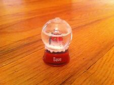 miniature personalized snowman snow globe Christmas Dave David Holiday Collect