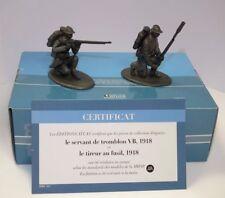 World War 1 (WW1) Metal Figures Sniper and Rifleman 1918,  1/24 Scale