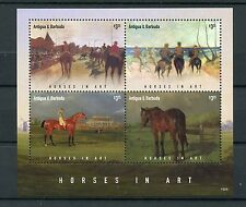 Antigua & Barbuda 2015 MNH Horses in Art 4v M/S I Paintings Farm Animals Stamps