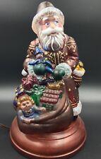 MERCK OLD WORLD CHRISTMAS SANTA Legendary Father ORNAMENT Glass LAMP LIGHT 2000
