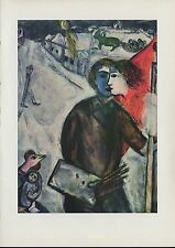 """1963 Vintage """"BETWEEN DARKNESS AND LIGHT, 1943"""" by MARC CHAGALL COLOR Lithograph"""