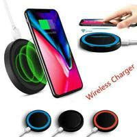 DC4.3V Qi Wireless Fast Charger Charging Dock Round For iPhone Samsung BEST K8H1