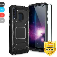 For Samsung Galaxy A10e A20 A50 Magnetic Support Phone Case Cover+Tempered Glass