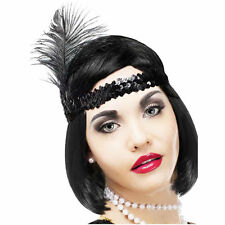 Charleston Flapper 20s Silver Feather Costume Headband