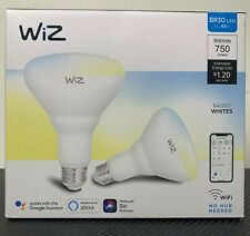 WiZ Connected Light Bulbs LED WiFi Smart BR30 750lm Voice Control *SEALED! 2PACK