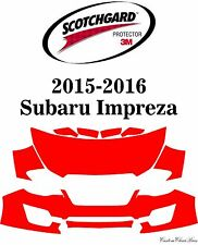 3M Scotchgard Paint Protection Film Clear Pre-Cut Fits 2015 2016 Subaru Impreza