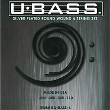 NEW Kala KA-BASS-4 Silver Plated Metal Round Wound U-Bass Strings 4 Strings