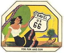US Hwy. Highway 66  Route  Vintage-Looking Travel Decal