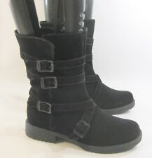 new Blacks low heel  Rugged  Combat  Riding Winter sexy ankle  boot Size  7  p