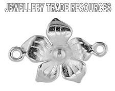Argent Sterling 10mm fleur pétale perle fabrication de bijoux