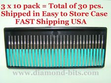 Set of 30 pcs. 1mm Diamond Drill Bit Jewelry Beach  Sea Glass Shells Stones gift