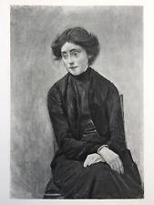 "Max Liebermann Original 1903 Heliogravure ""Bildnis Fräulein Hedwig Ruetz"""