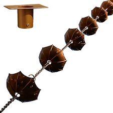 "68"" Decorative Iron Umbrella Rain Chain With Bonus Adapter Installer Piece"