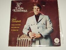 "GLEN CAMPBELL *RARE 7"" EP ' TRY A LITTLE KINDNESS ' 1970 GC+"