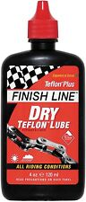 Finish Line Teflon BICI CICLO Dry Lube lubrificante per catena 8oz 240ml Workshop Bottiglia