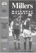 Rotherham United v Chesterfield 1994/5 (18 Oct) Auto Windsreens Shield