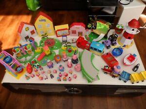 Huge Peppa Pig Bundle, Buildings, Vehicles, 25 Characters, Fun Fair, Playground