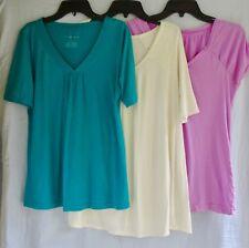 Lot of 3: Liz Lange Maternity shirts Size S t-shirt top light pink ivory teal