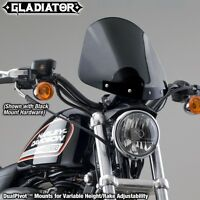 Harley XL883L Sportster Low '05-'10 Gladiator Windshield | Dark Tint/Black