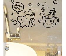 Lovely Brush Teeth Cute Home Decor Wall Stickers Decals Kids Bathroom Washroom