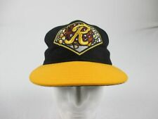 Rochester Red Wings New Era Hat Men's Black/Yellow Fitted Used Multiple Sizes