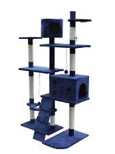 Poste rascador de juego de color principal azul para gatos