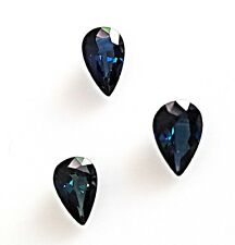 3.55 Carats Natural Blue Sapphire Pear Shape Shape Set of 3 Loose Stone Gemstone
