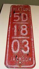 Vintage Hixton, Jackson Co, WI Rural Fire Dept Number Metal Sign House ID Marker