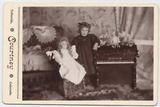 Girl Doll Toys Miniature Piano by Courtney Telluride Colorado 1890 Cabinet Photo