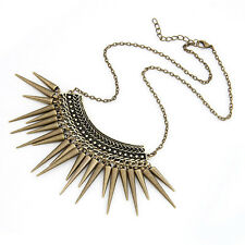 Lady Metal Multilayer Chain Tassels Choker Bib False Collar Necklace Stylish Top