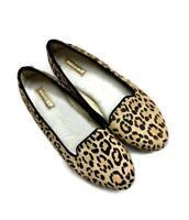 Birdies Calf Hair Leopard Print Loafers Flats Shoes Faux Fur Lined Size 6.5