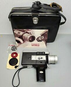 SUPER CLEAN! Canon 518  Auto Zoom Super 8 Film Camera Tested & Working w/case!