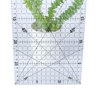 30 * 15 Cm Patchwork Ruler dressmaker Tools Transparent Ruler School Suppli JA#