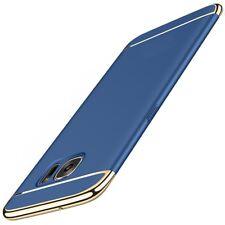 Funda protectora móvil para Samsung Galaxy S6 EDGE CARCASA 3 en 1 AZUL NUEVO