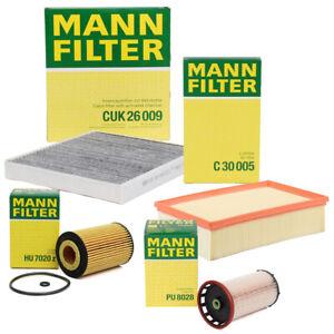 MANN Filterset 4-tlg für AUDI A3 8V LEON 5F OCTAVIA VW GOLF 7 PASSAT 1.6/2.0 TDI