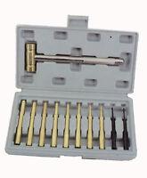 Brass Hammer & Steel Punch Tool 11 piece Set (ha44)6/18