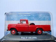 1959 Ford F-100 Pick-up  rot   /    IXO/Altaya   1:43